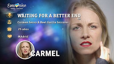 "Eurovisión 2017 - Carmel canta ""Waiting for a better end"""