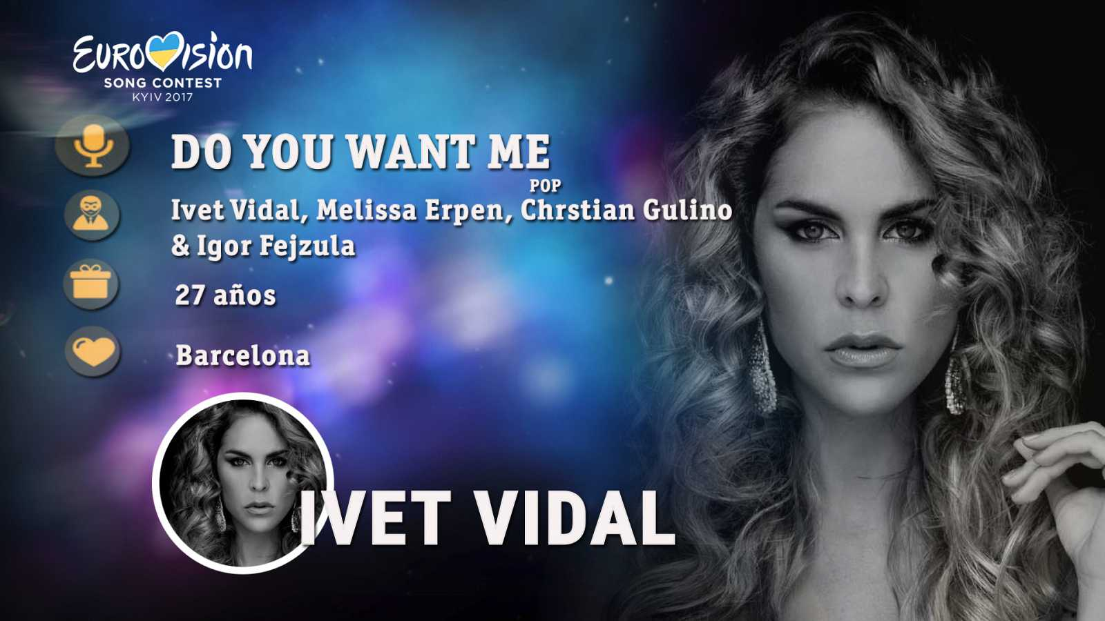 "Eurovisión 2017 - Ivet Vidal canta ""Do you want me"""