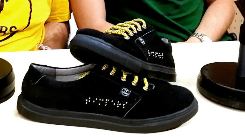 Emprendedores Ciegos Zapatillas Deportivas Diseñan Zapatillas Ciegos Ciegos Zapatillas Diseñan Diseñan Emprendedores Emprendedores Deportivas nvN80mw