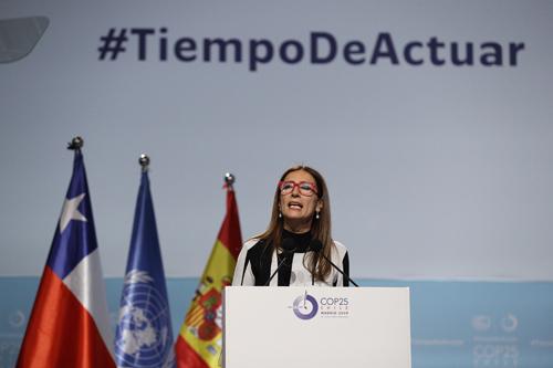 La ministra chilena del Clima y presidente entrante de la COP, Carolina Schmidt. EFE/Javier Lizón