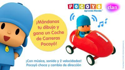 Concurso ¡Dibuja a tu personaje favorito y consigue el coche de carreras de Pocoyó!