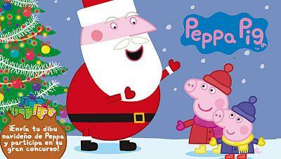 Concurso ¡Mándanos tu dibujo navideño de Peppa Pig  y consigue tu Peluche Interactivo con Tablet!