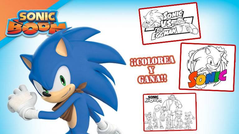 Concurso '¡Colorea con Sonic y gana fantásticos premios de tu héroe favorito!'