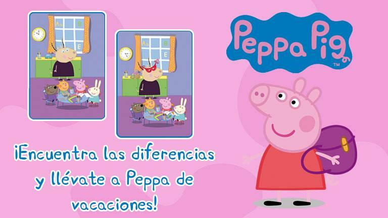 Concurso ¡Encuentra las diferencias y llévate de vacaciones a Peppa Pig!