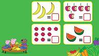 Cuenta las frutas con Peppa