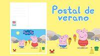 Postal de verano de Peppa Pig