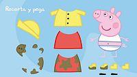 Recorta y pega con Peppa Pig