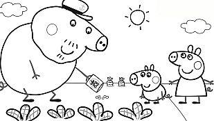 DescargableColorea el huerto del Abuelo Pig