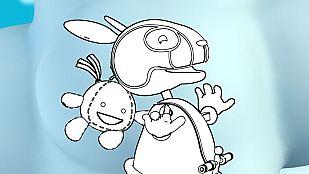 DescargableColorea a Tutu y su amiga Nina