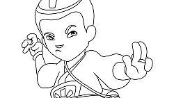 dibujos para colorear zak storm
