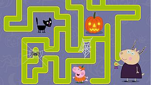 DescargableEl laberinto de Halloween de Peppa Pig