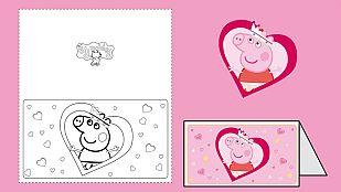 Descargable¡Felicita San Valentín con Peppa Pig!