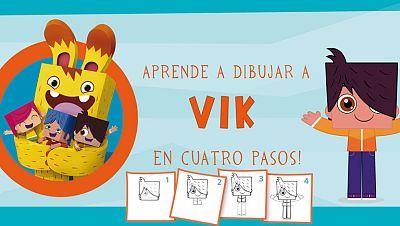 ¡Aprende a dibujar a Vik en 4 pasos!
