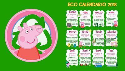 Ecocalendario 2018 de Peppa Pig
