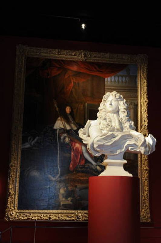 """View of the exhibition """"Louis XIV, the Man and the King"""" at the Versailles castle, west of Paris"""