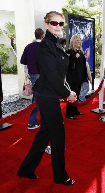 Julia Roberts en elpreestreno de 'Charlotte's Web', película de animación en la que ponía la voz
