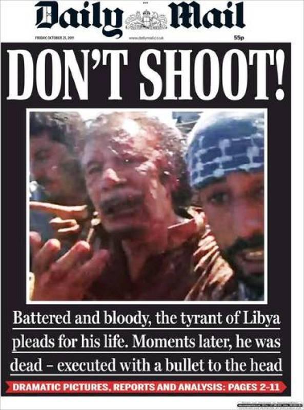 """¡No disparéis!"", titula The Daily Mail"