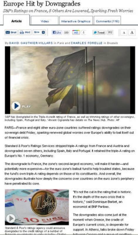 Europa golpeada por la rebaja