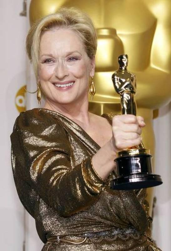 Meryl Streep en la gala de los Oscar 2012