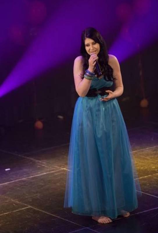 Eva Boto, representante de Eslovenia en Eurovisión 2012, durante su actuación en Eurovision in Concert, celebrado el 21 de abril en Amsterdam