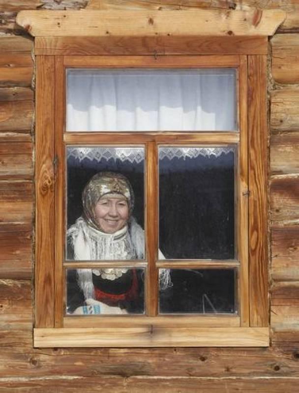 Olga Tuktaryova, de 43 años, líder de las Buranovskiye Babushki.he village of Ludorvai