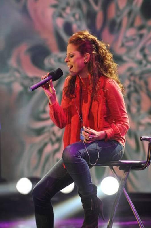 Pastora Soler, durante el ensayo de la gala 'Música para mi madre', que emite TVE el sábado 5 a las 22.30 h