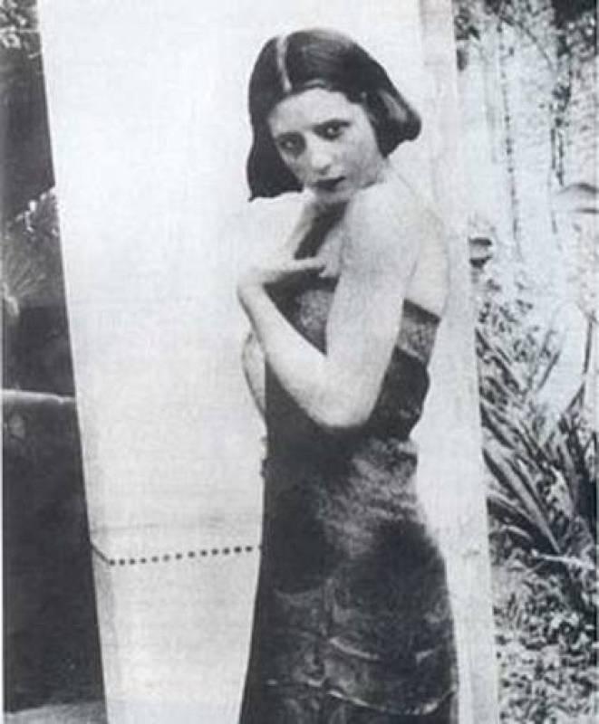 Eva Perón con 15 años, edad en la que salió de su pueblo para ir a Buenos Aires.