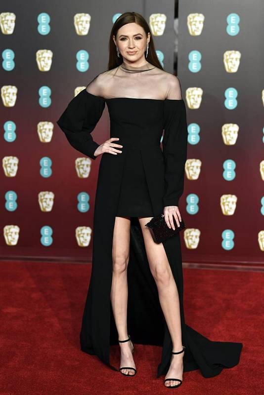 La actriz británica Karen Gillian