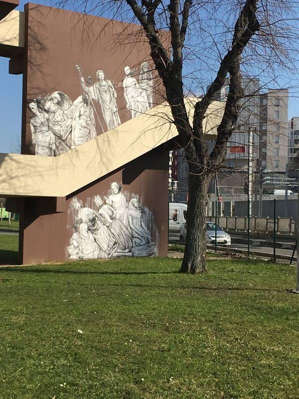El 'street art' al encuentro del Museo del Louvre