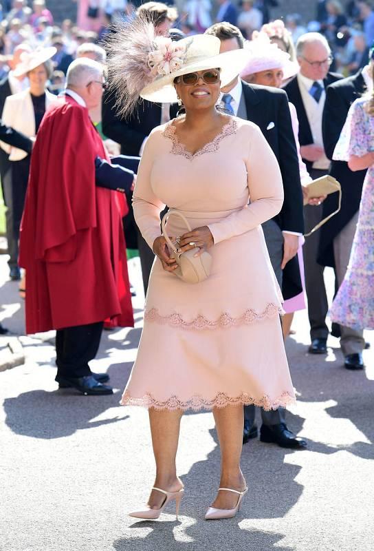 Oprah Winfrey llega a la Capilla de San Jorge, en el Castillo de Windsor