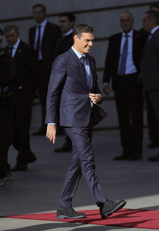 El presidente Pedro Sánchez llega al Congreso de los Diputados