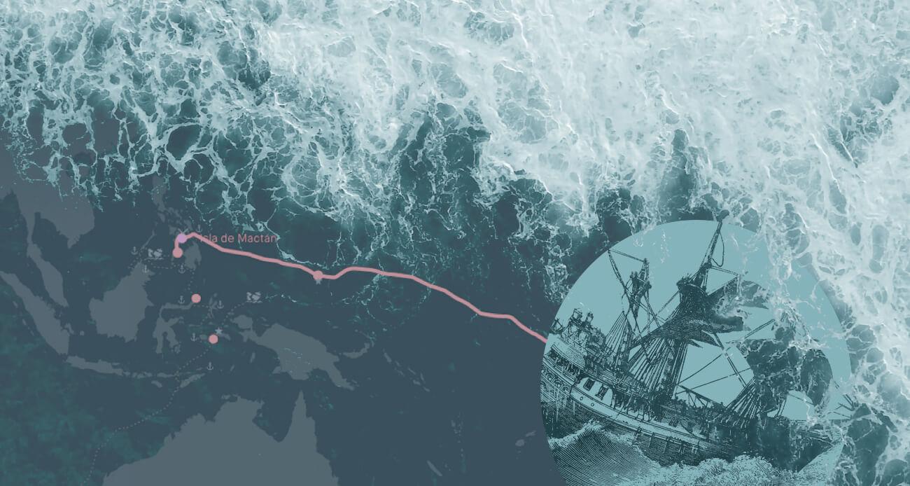Recrea la ruta interactiva de la gesta de Magallanes y Elcano