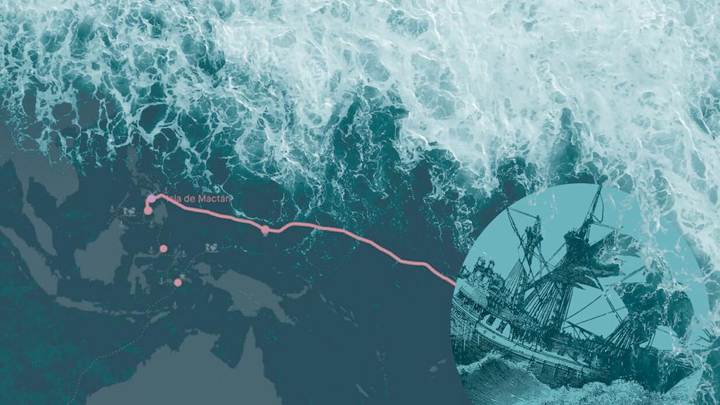 Recrea la ruta interactiva de Magallanes-Elcano
