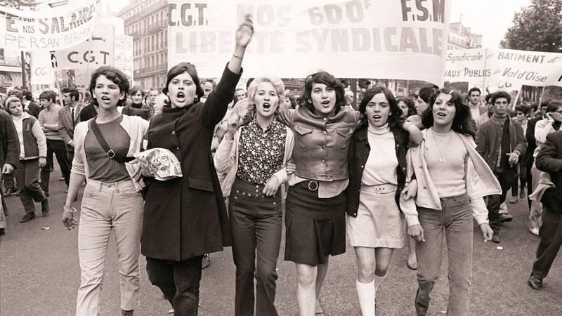 """Fotografía de las protestas de Mayo del 68 facilitada por la Fundación Gilles Caron con el título """"Manifestation CGT"""""""