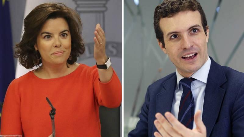 Santamaría y Casado llegan a la batalla final por el liderazgo del PP.