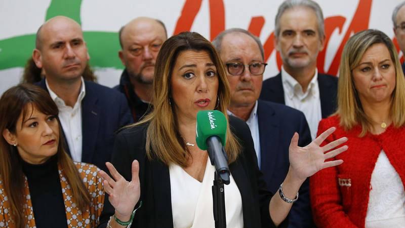 Susana Díaz, en rueda de prensa este lunes