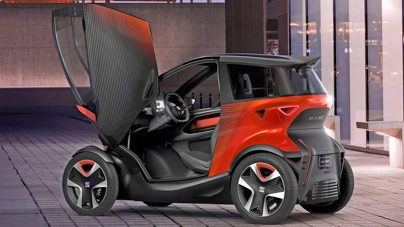 Imagen de Minimó, el prototipo de vehículo eléctrico urbano presentado por Seat.