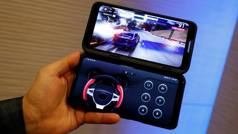 Así es el LG V50 ThinQ, un móvil al que se le puede acoplar una segunda pantalla.