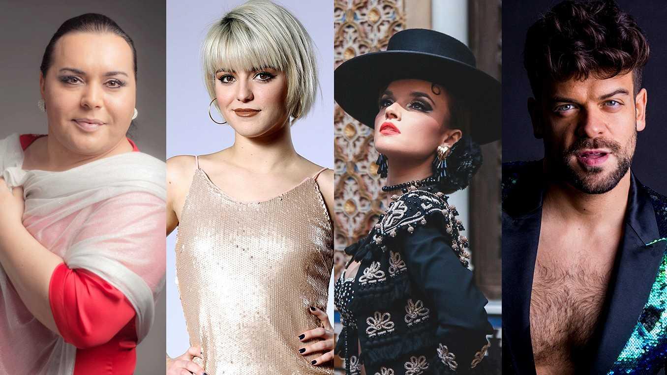 Falete, Alba Reche, Melody y Ricky Merino, concursantes de la Gala Final