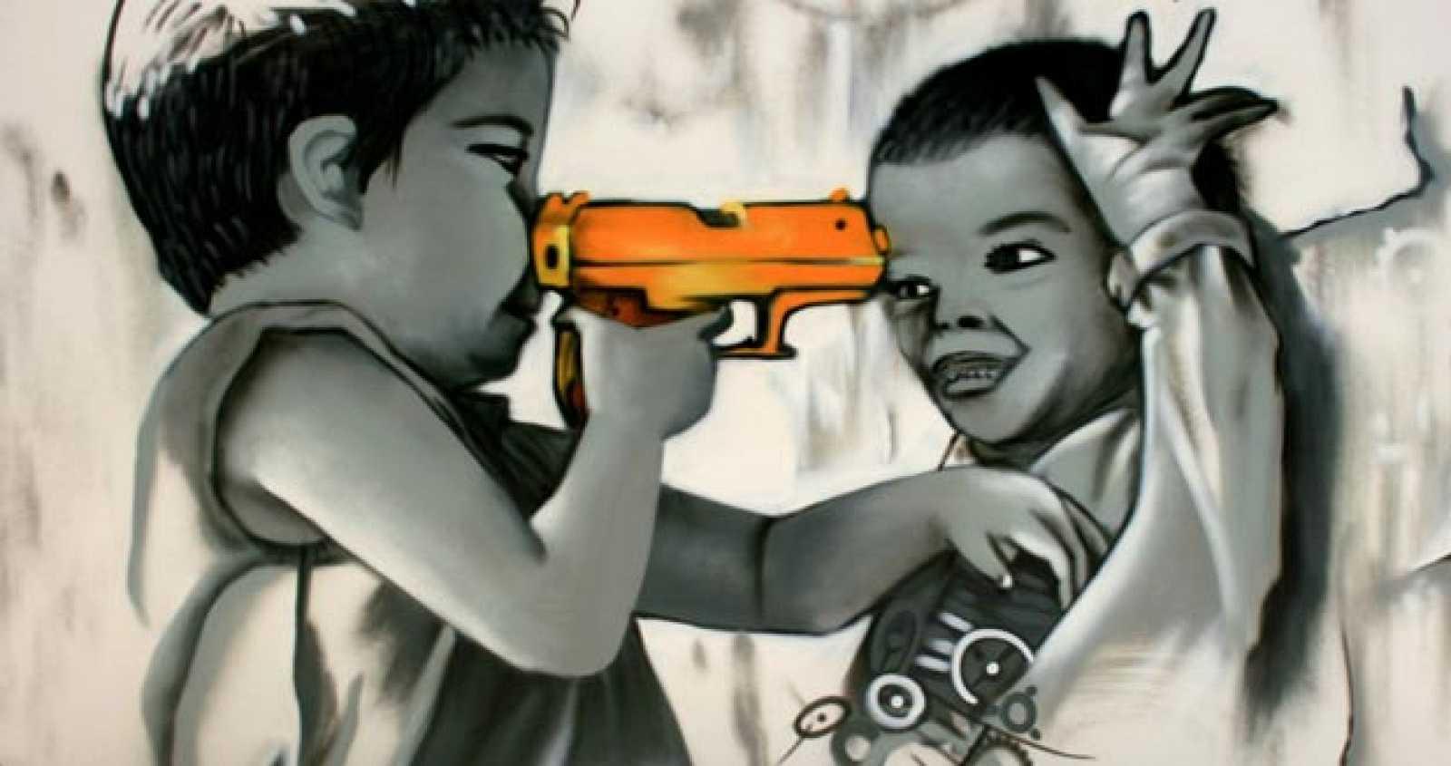 Un graffiti sobre los niños soldado