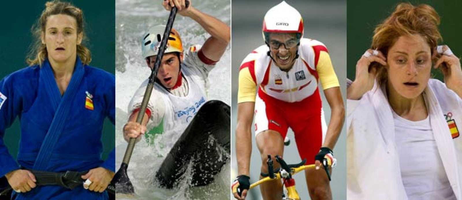 Leire Iglesias, el piragüsita Ander Elosegui, Alberto Contador y Esther San Miguel se han quedado a las puertas de las medallas.