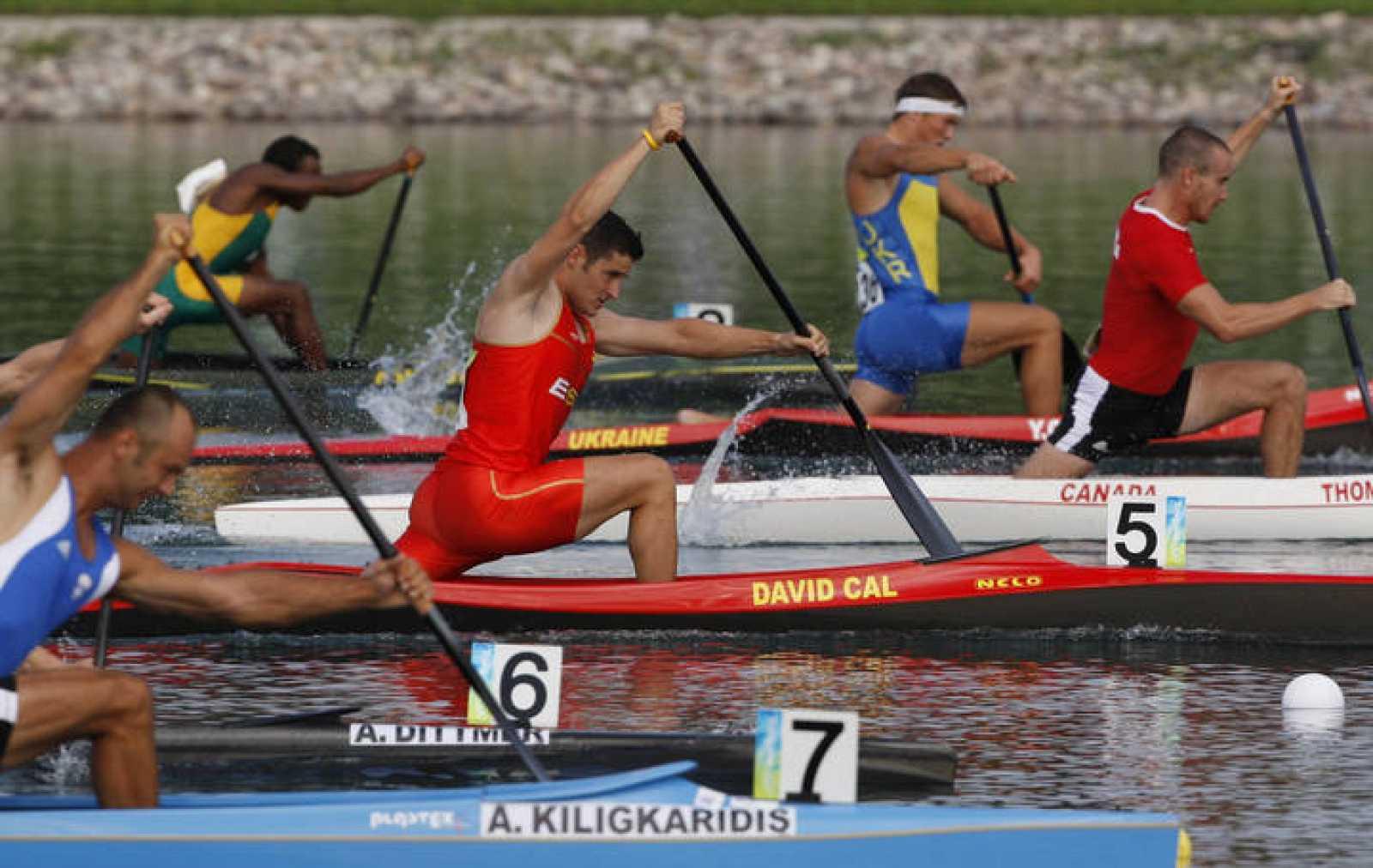El abanderado de la delegación española, David Cal, ya está en la final de C1 1000m.