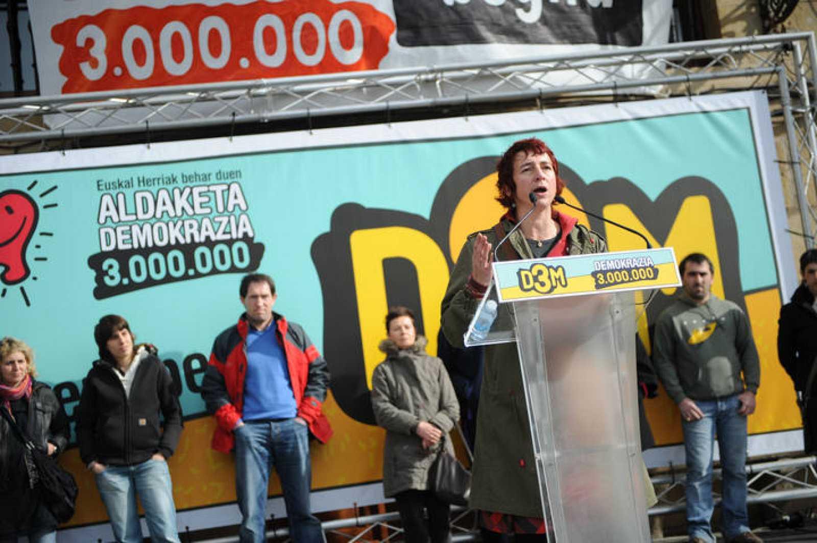 Idoia Ibero, líder en Guipuzcoa de D3M, plataforma electoral abertzale cuyas listas han sido anuladas por el Supremo.