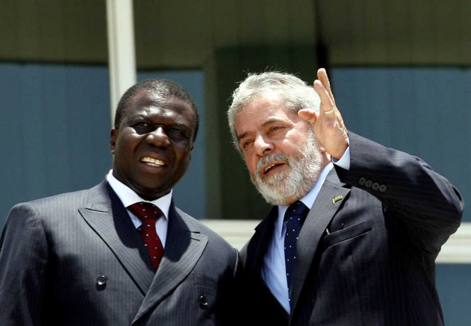 Joao Bernardo Vieira, en un viaje oficial a Brasil en noviembre de 2007, junto a Lula da Silva.