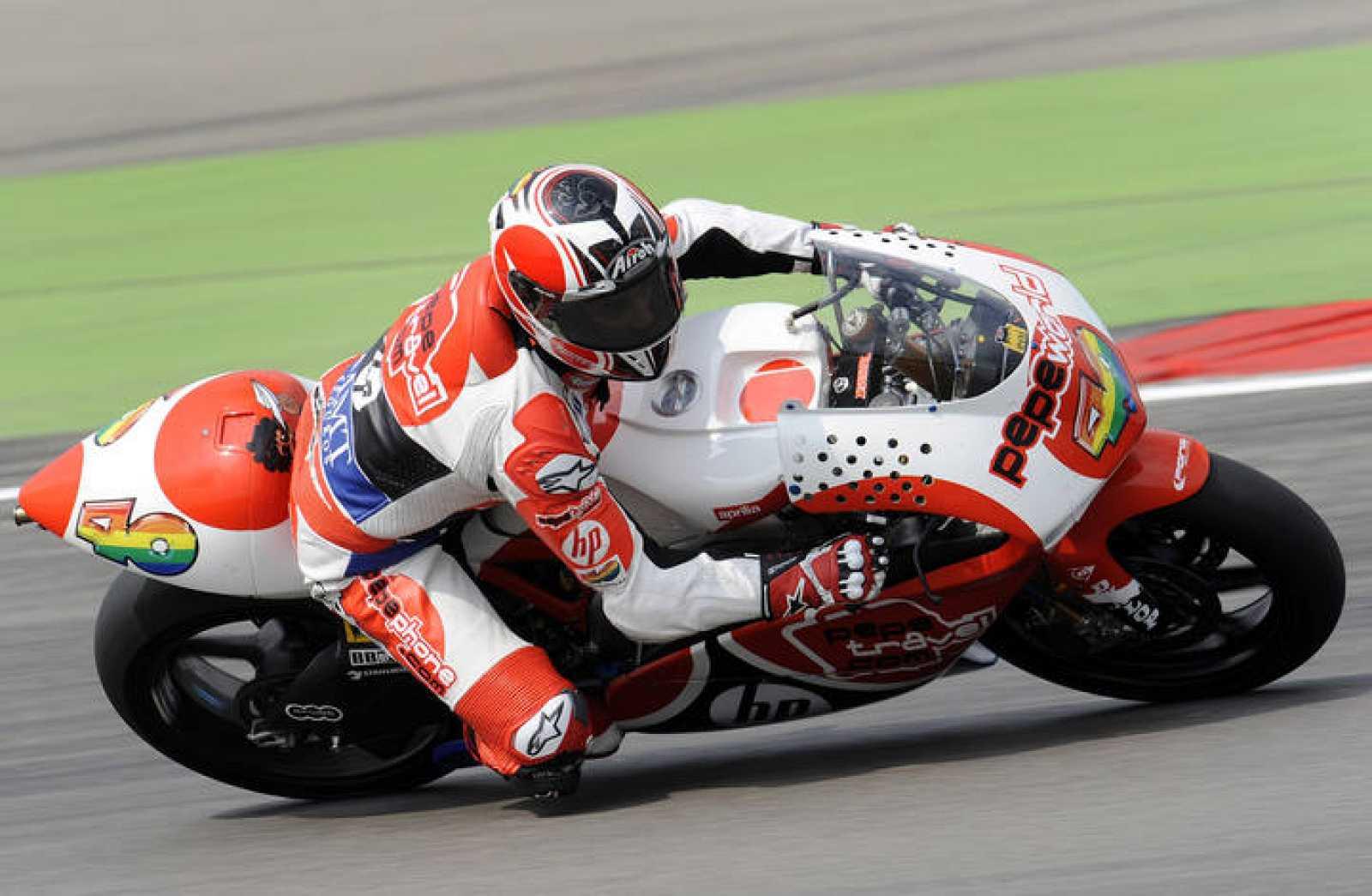 Baberá, pilotando su moto de 250cc, correrá a partir del año próximo en MotoGP