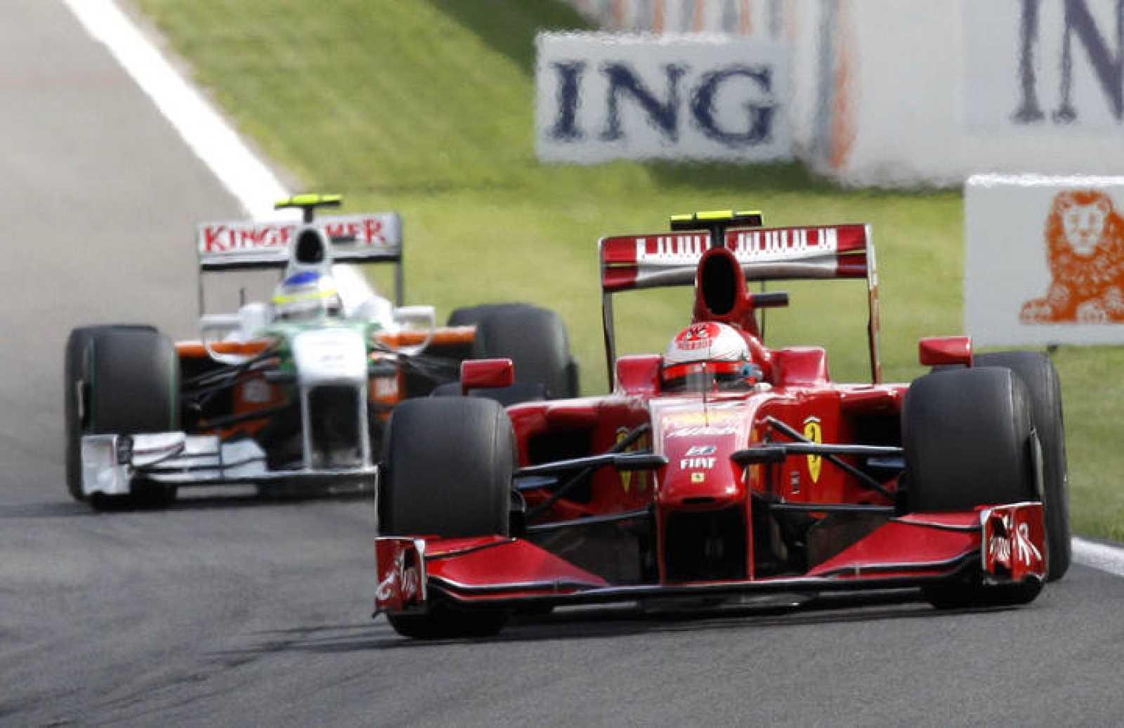 El piloto finlandés de Ferrari Kimi Raikkonen ha ganado el GP de Bélgica, siendo segundo el italiano de Force India Giancarlo Fisichella.