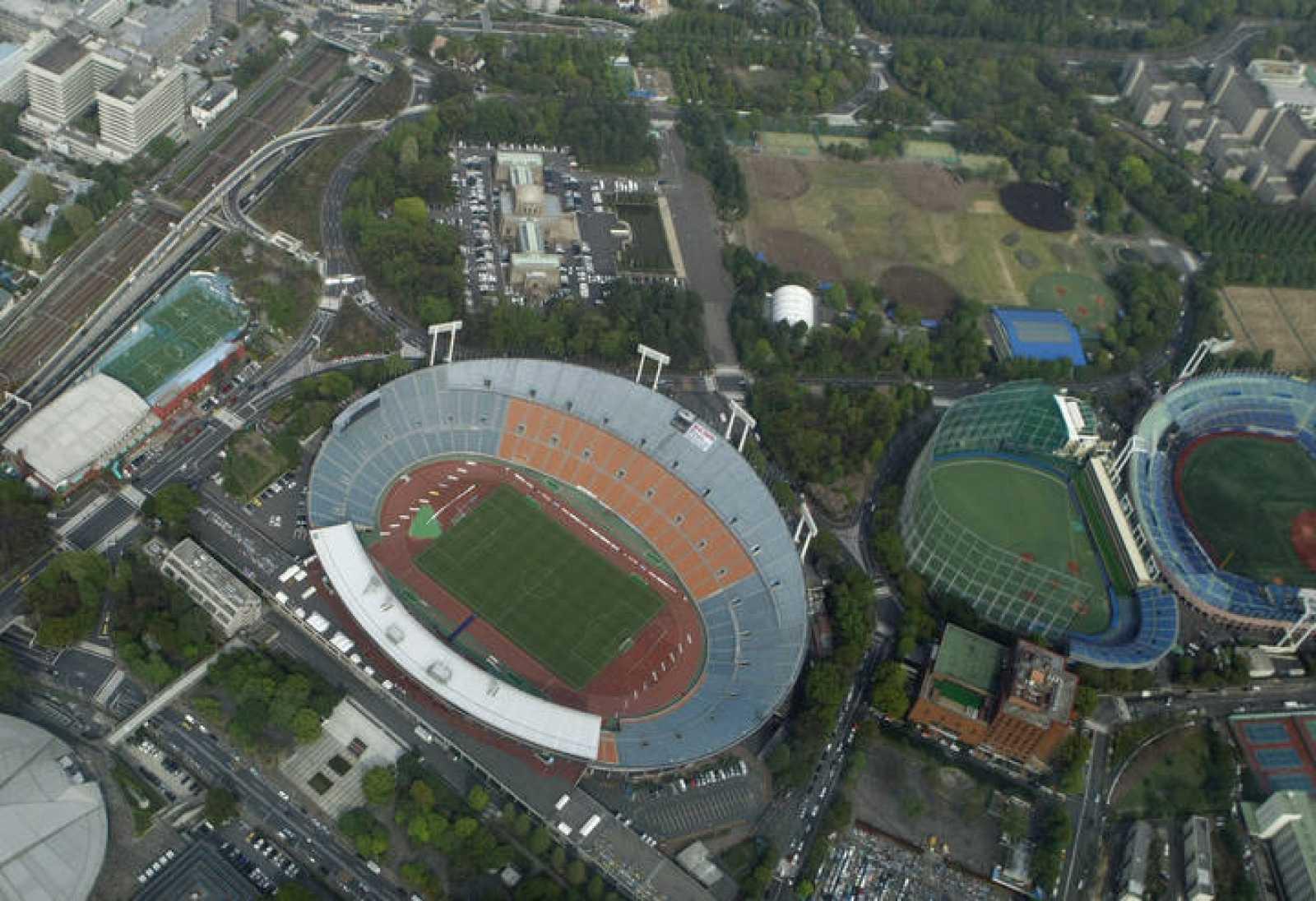 Vista aérea del Estadio Olímpico de Tokyo, en el que se celebraron los Juegos de 1964.