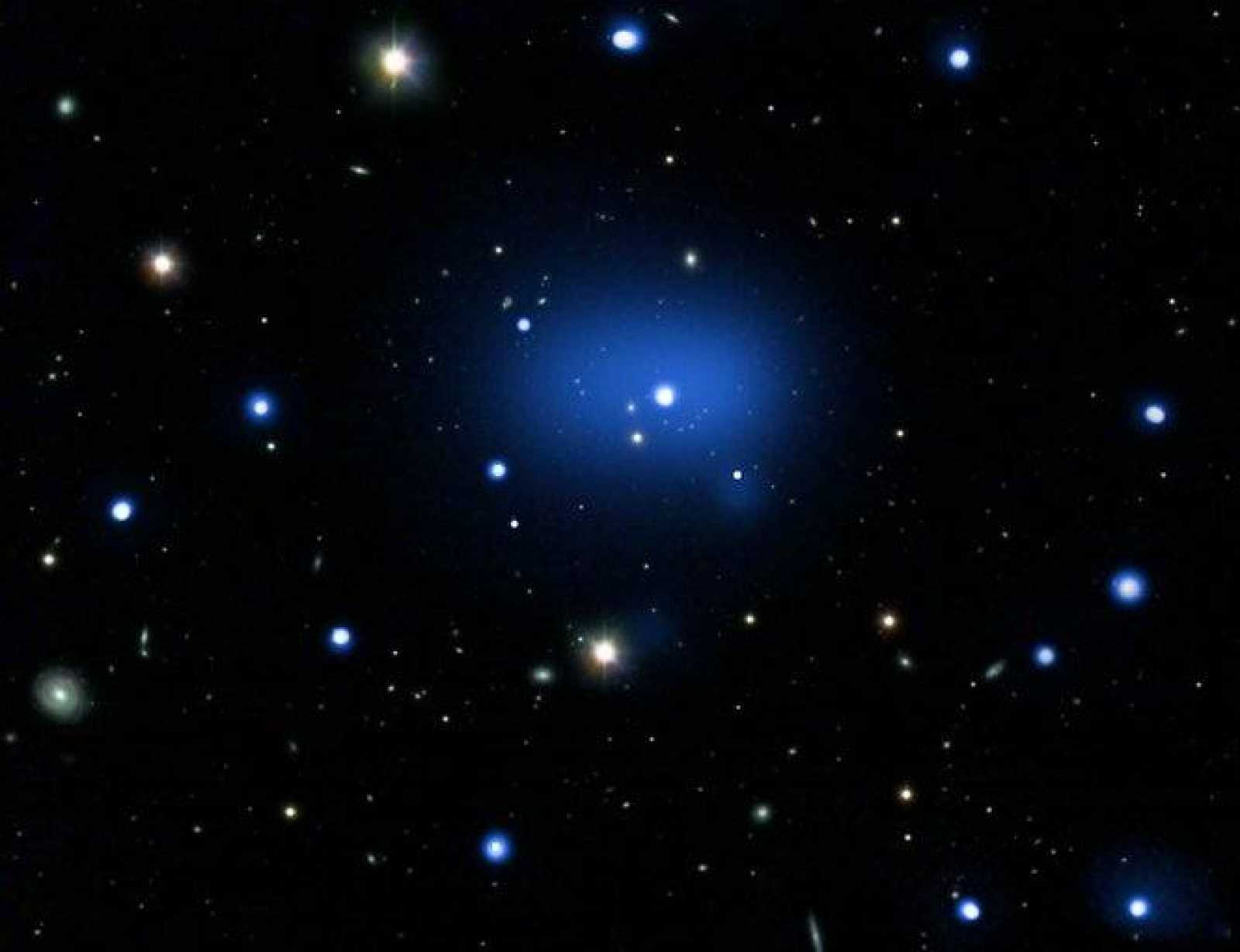La agrupación de galaxias, conocida como JKCS041, bate el anterior record de distancia en alrededor de mil millones de años luz.