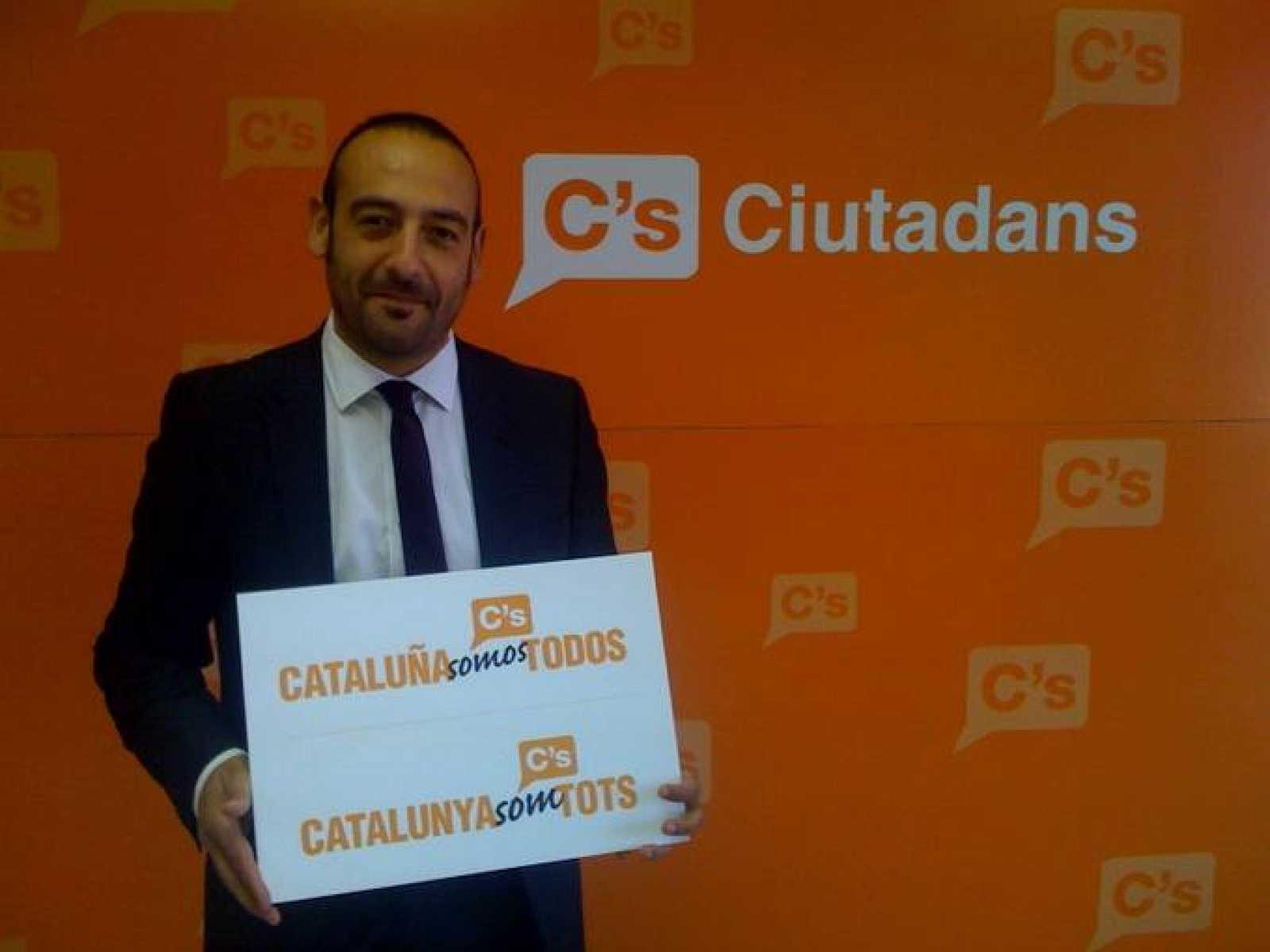 El portavoz del partido Ciutadans de Catalunya, Jordi Cañas.