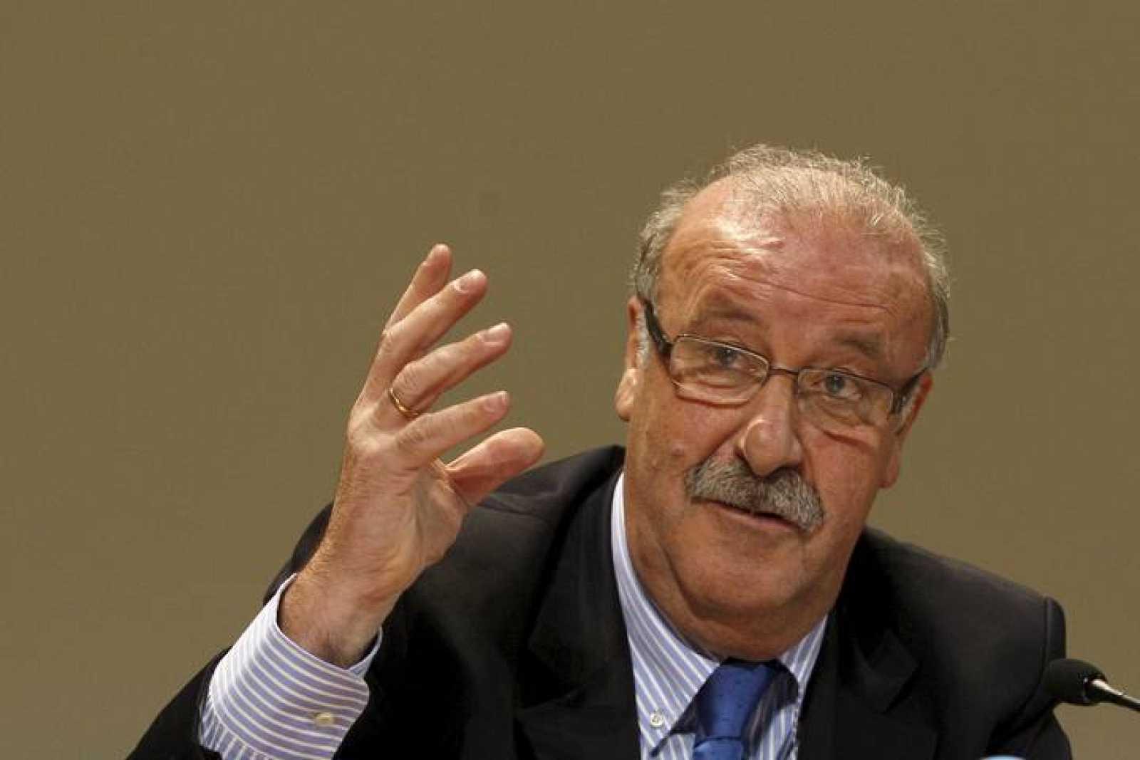 Vicente del Bosque, en la Facultad de CC de la Información de la Universidad Complutense.